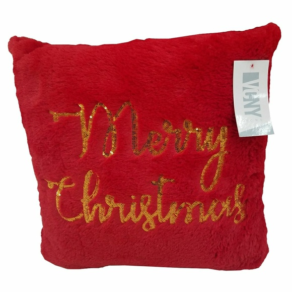 VCNY Home Other - VCNY Home Merry Christmas Red Sequin Pillow
